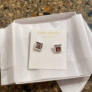 Kate Spade silver square stud earrings